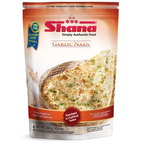 Shana Garlic Naan (12 x 4pcs)