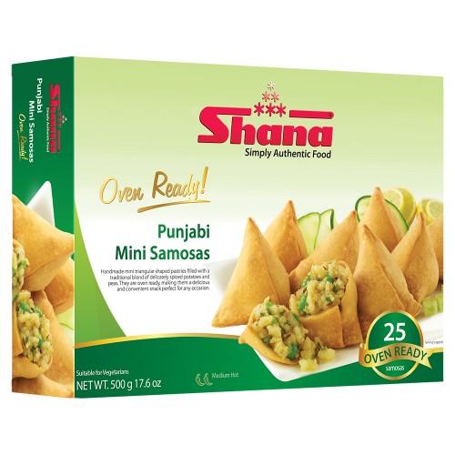 Shana Punjabi Mini Samosas 25's (8 x 500g)