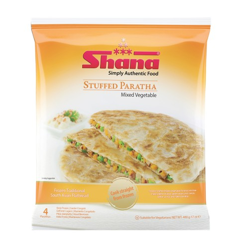 Shana Mixed Vegetable Stuffed Parathas (12 x 480g)