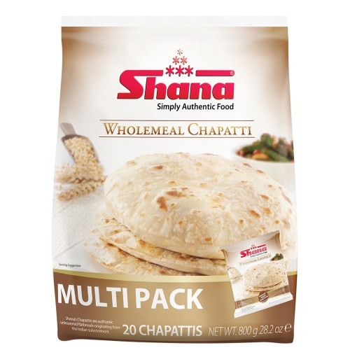 Shana Wholemeal Chapattis Multipack (6 x 800g)