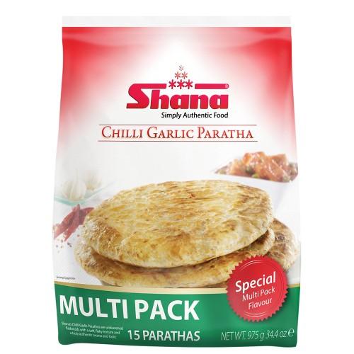 Shana Chilli Garlic Paratha Multi Pack (6 x 1200g)