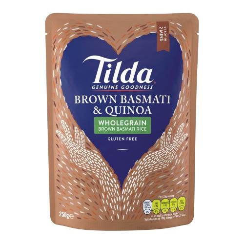Tilda Brown Basmati & Quinoa Steamed Basmati - 6 x 250g