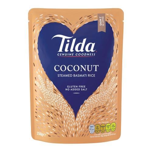 Tilda Coconut Steamed Basmati - 6 x 250g