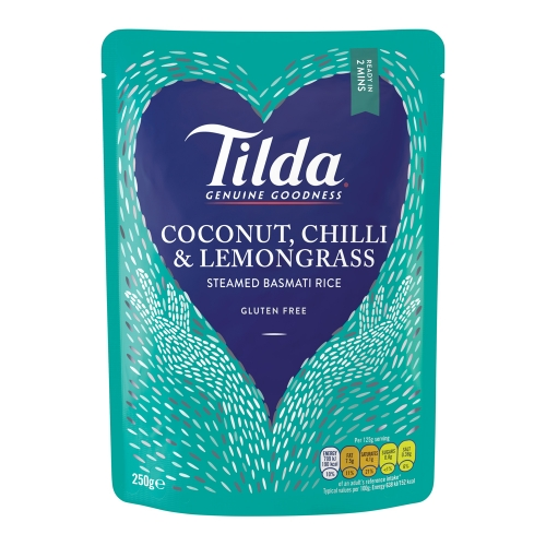 Tilda Coconut Chilli & Lemongrass Steamed Basmati - 6 x 250g