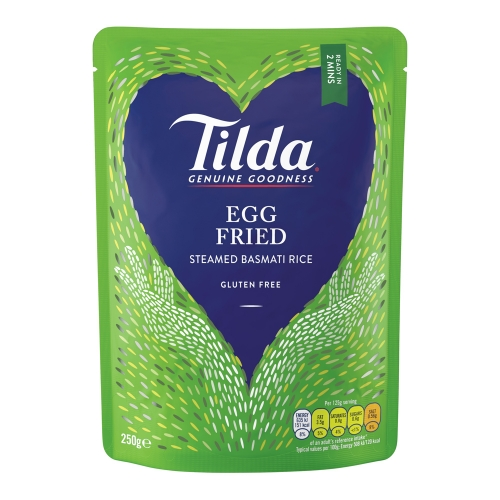 Tilda Egg Fried Steamed Basmati - 6 x 250g
