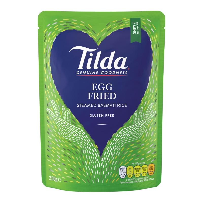 Tilda Egg Fried Steamed Basmati - 250g