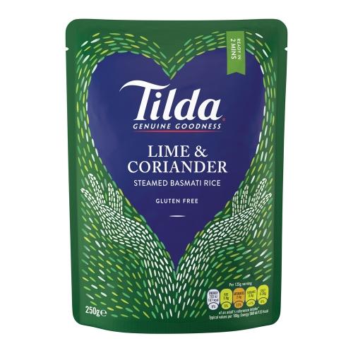 Tilda Lime & Coriander Steamed Basmati - 6 x 250g