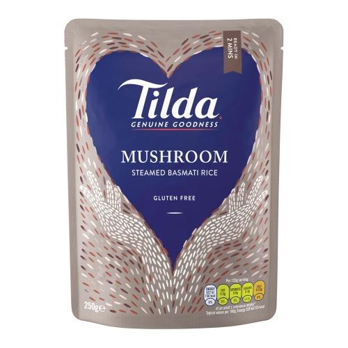 Tilda Mushroom Steamed Basmati - 6 x 250g