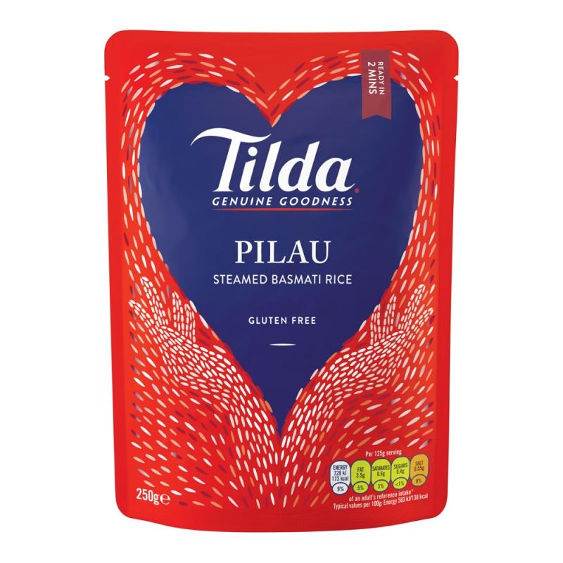 Tilda Pilau Steamed Basmati - 250g