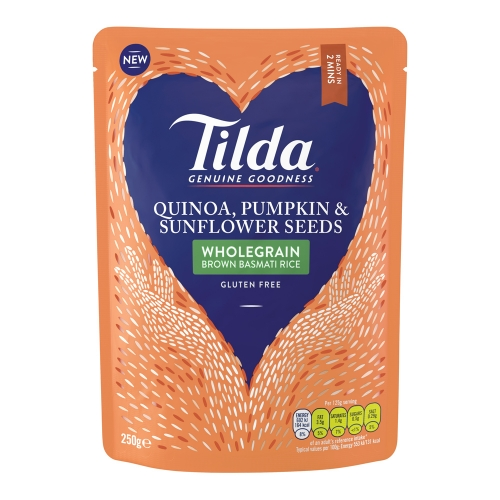 Tilda Brown Basmati with Quinoa, Pumpkin & Sunflower Seeds Steamed Basmati - 6 x 250g