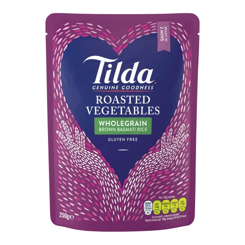 Tilda Roasted Vegetables Steamed Basmati - 6 x 250g