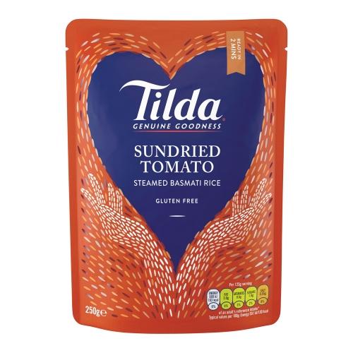 Tilda Sundried Tomato Steamed Basmati - 6 x 250g