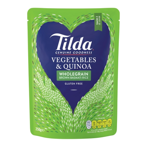 Tilda Vegetables & Quinoa Steamed Brown Basmati - 6 x 250g