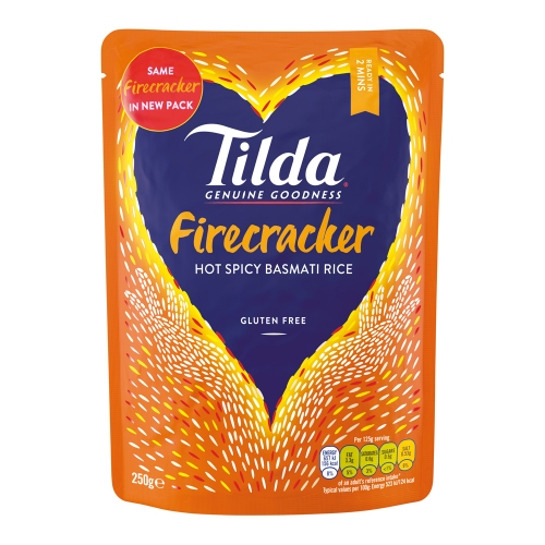 Tilda Hot Firecracker Steamed Basmati - 6 x 250g