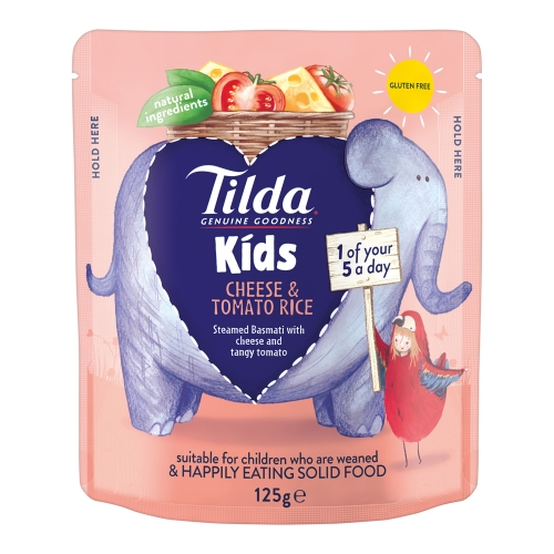 Tilda Kids Cheese & Tomato Rice - 125g