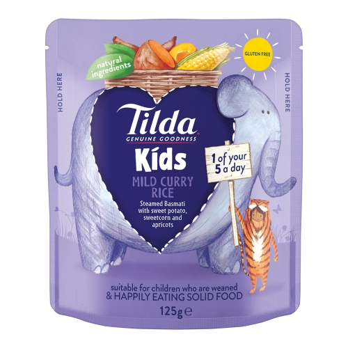 Tilda Kids Mild Curry Rice - 125g