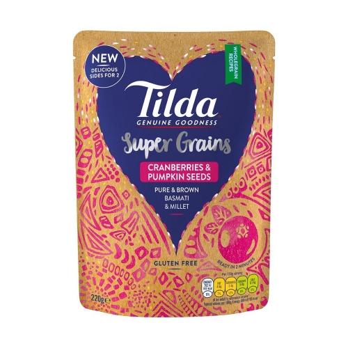 Tilda Cranberries & Seeds Super Grains - 220g