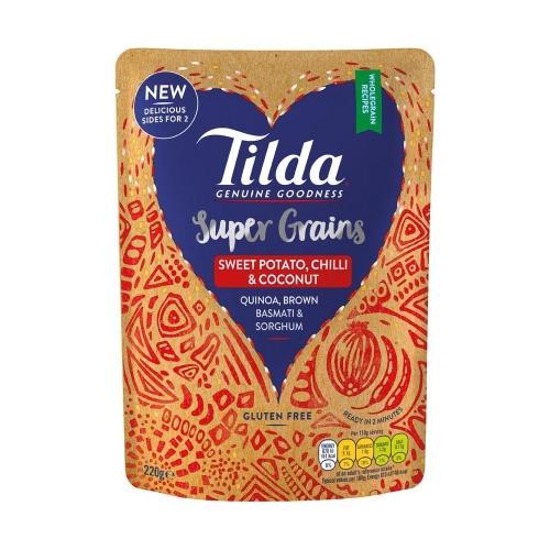 Tilda Sweet Potato, Chilli & Coconut Super Grains - 220g
