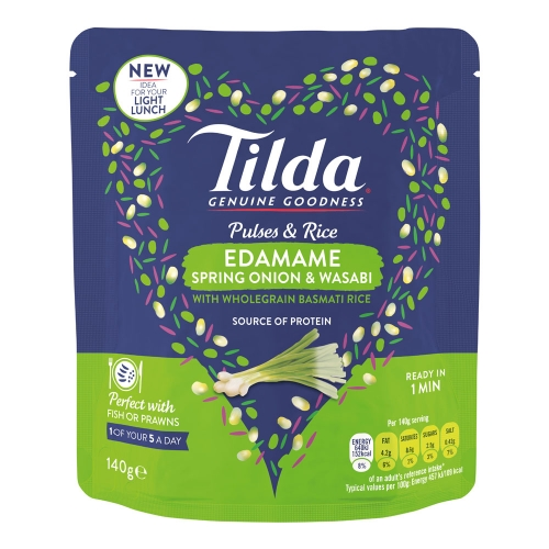 Tilda Edamame, Spring Onion & Wasabi Pulses & Rice - 140g
