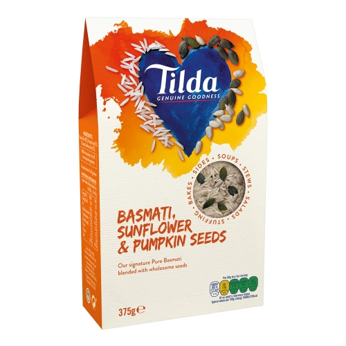 Tilda Basmati Rice, Sunflower & Pumpkin Seeds Blends - 375g