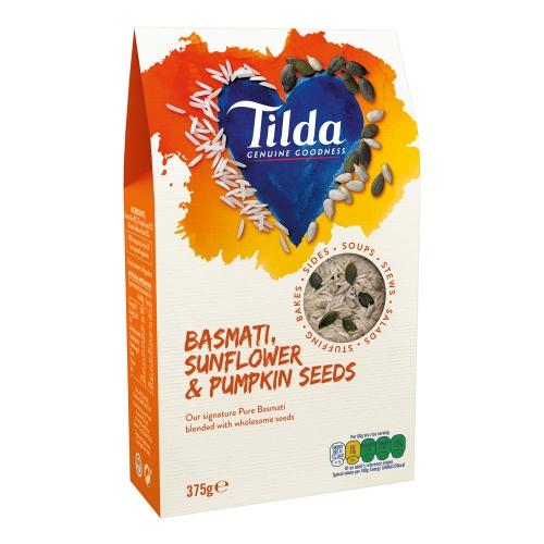 Tilda Basmati Rice, Sunflower & Pumpkin Seeds Blends - 375g