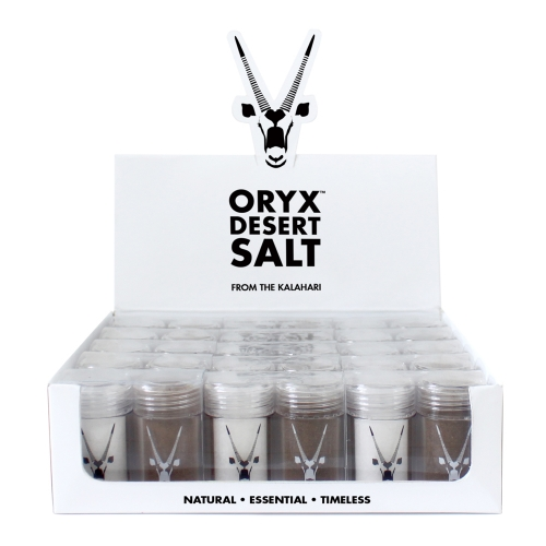Oryx Salt & Pepper Mini Travel Shaker Counter Unit (18 sets)